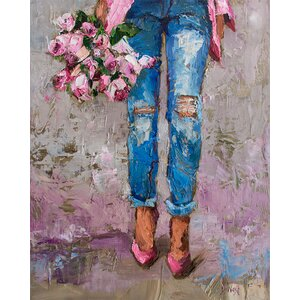 'Fancy Florals' Print on Wrapped Canvas by House of Hampton