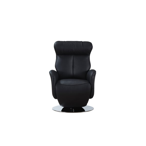 Gino Leather Power Recliner By Orren Ellis