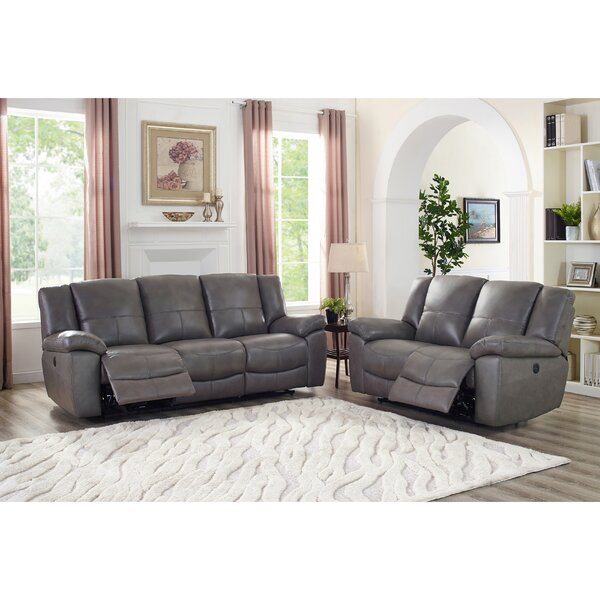 Yamashita Lay Flat Power 2 Piece Leather Reclining Living Room Set by Red Barrel Studio