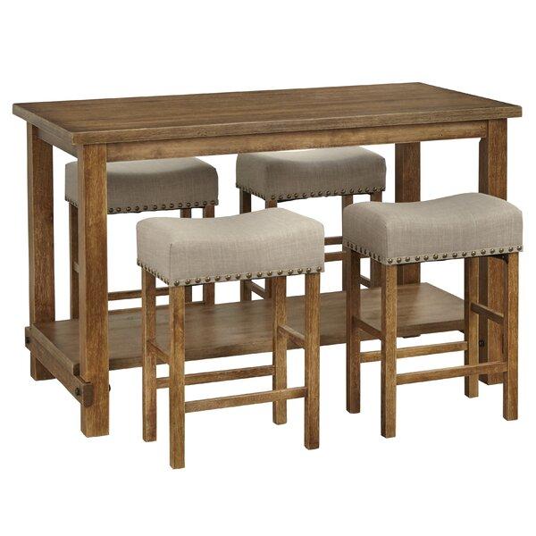 Hendina 5 Piece Pub Table Set by Gracie Oaks