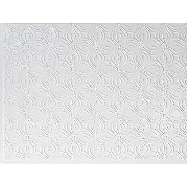 Dogwood Backsplash Wall Paneling 18 x 24 Field Tile in White by MirroFlex