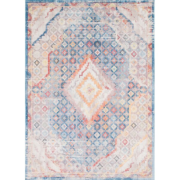 Gomez Blue/Orange Area Rug by Bungalow Rose