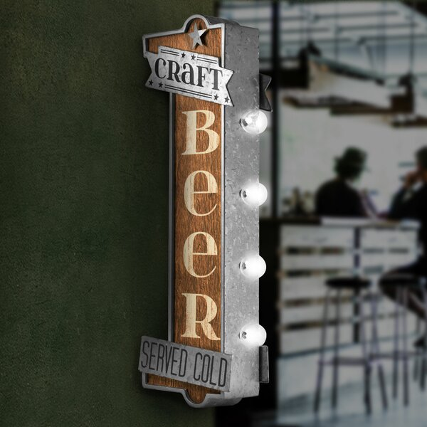 Craft Beer LED Marquee Sign by Crystal Art Gallery