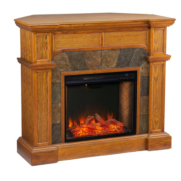 Great Deals Cartwright Corner Convertible Alexa Enabled Fireplace