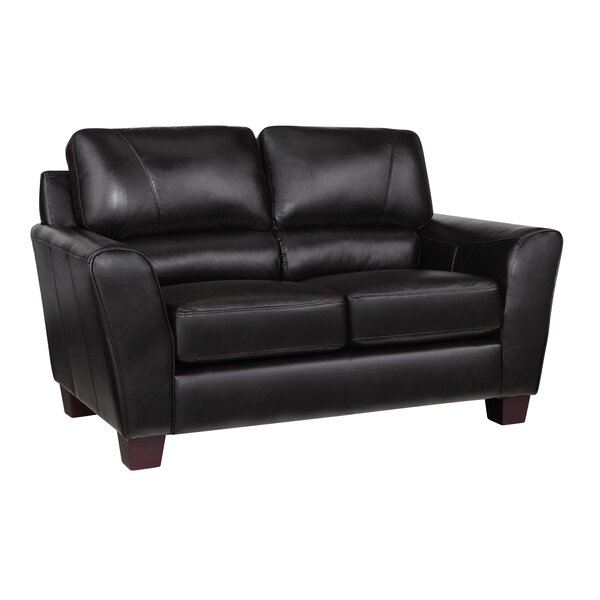 Woodcock Leather Loveseat by Latitude Run