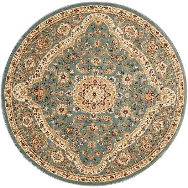 Antiquities Imperial Garden Slate Blue/Sage Area Rug by Kathy Ireland Home