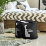 Home Sweet Dover Cube Ottoman by East Urban Home
