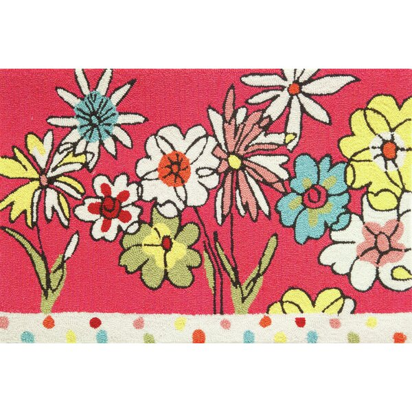 Lauri Polka Dots and Flowers Rug by Zoomie Kids