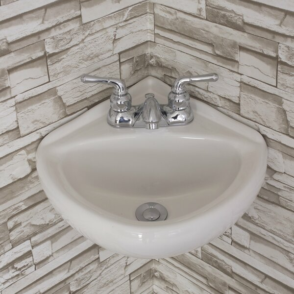 Ceramic 15 Corner Bathroom Sink by Fine Fixtures