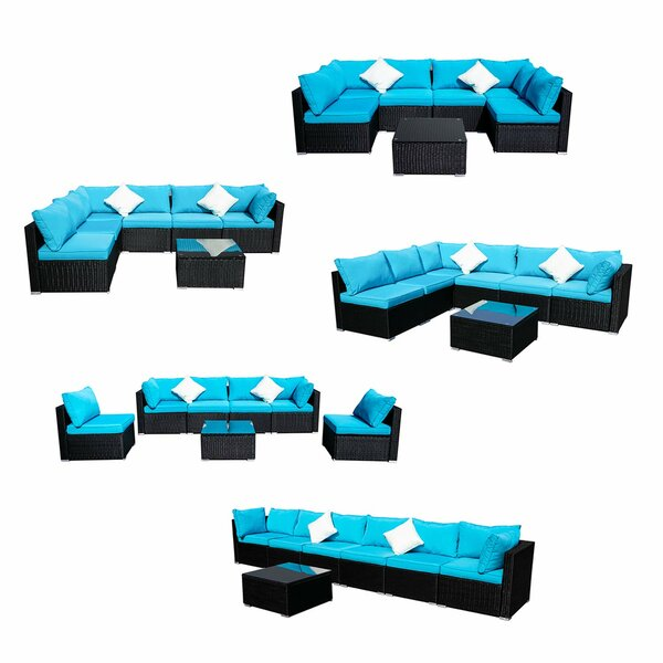 Chehalis 7 Piece Rattan Sectional Seating Group with Cushions by Red Barrel Studio Red Barrel Studio