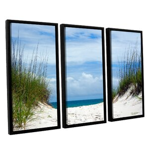 Ocean Path by Antonio Raggio 3 Piece Framed Photographic Print on Canvas Set by ArtWall
