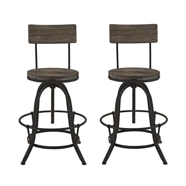 Procure Adjustable Height Swivel Bar Stool (Set of 2) by Modway