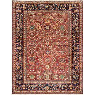 One-of-a-Kind Sultanabad Hand-Knotted Wool Rust/Blue Indoor Area Rug By Bokara Rug Co., Inc.