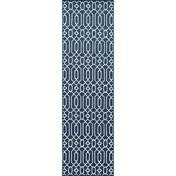 Halliday Blue Indoor/Outdoor Area Rug by Beachcrest Home