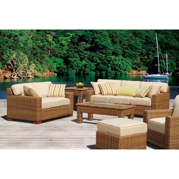 Chorio 9 Piece Deep Sunbrella Seating Group with Cushions by Bay Isle Home