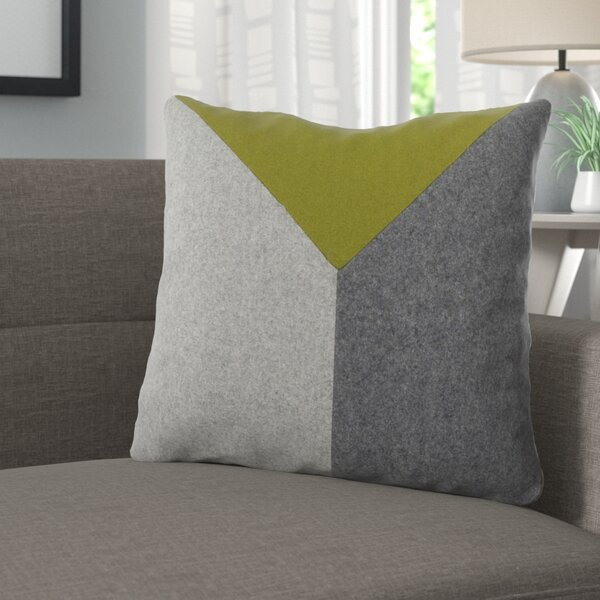 Estaban Wool Throw Pillow by Langley Street