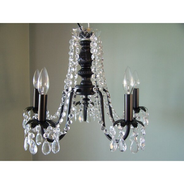 Miss Mercedes 5 - Light Shaded Empire Chandelier by Silly Bear Lighting Silly Bear Lighting