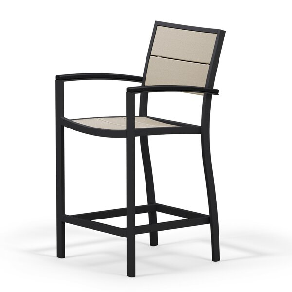 Metro Patio Counter Arm Chair by POLYWOOD®