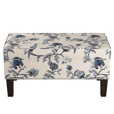 Macie Upholstered Storage Bench Wayfair Custom Upholstery™ Body Fabric: Shaana Indigo OGA