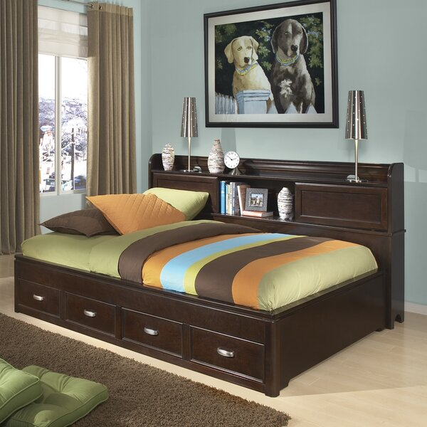 Makenzie Storage Mates & Captains Bed With Bookcase And 3 Drawers By Alwyn Home by Alwyn Home Today Only Sale