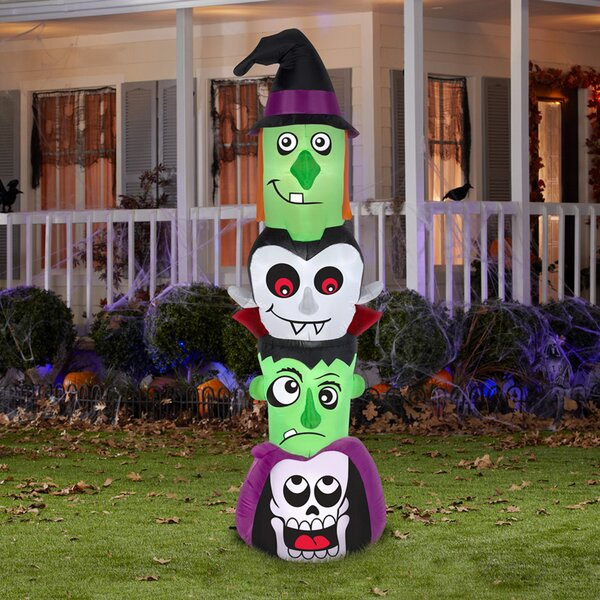 Halloween Totem Pole Inflatable by The Holiday Aisle