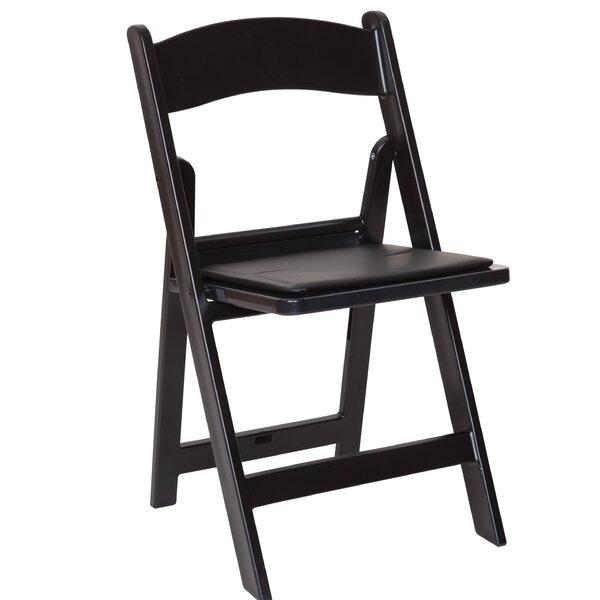 Vinson Vinyl Padded Folding Chair (Set of 4) by Symple Stuff