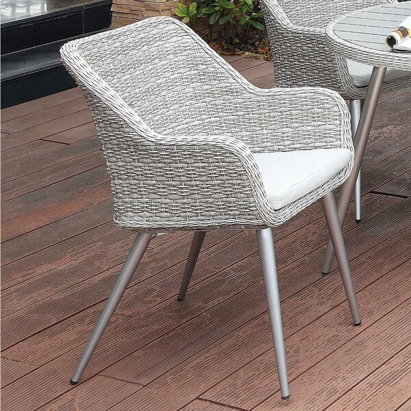 Julius Patio Dining Chair with Cushion (Set of 4) by Langley Street