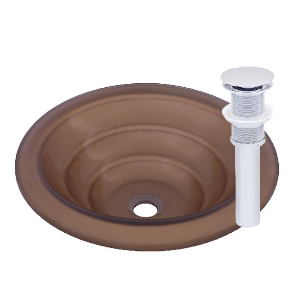 Bronzo Glass Circular Vessel Bathroom Sink by Novatto
