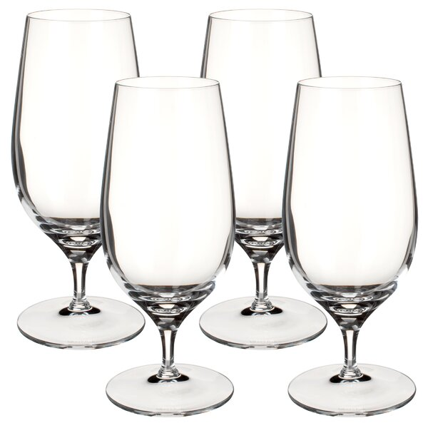 Goblet 12 oz. Glass Pint Glasses (Set of 4) by Vil