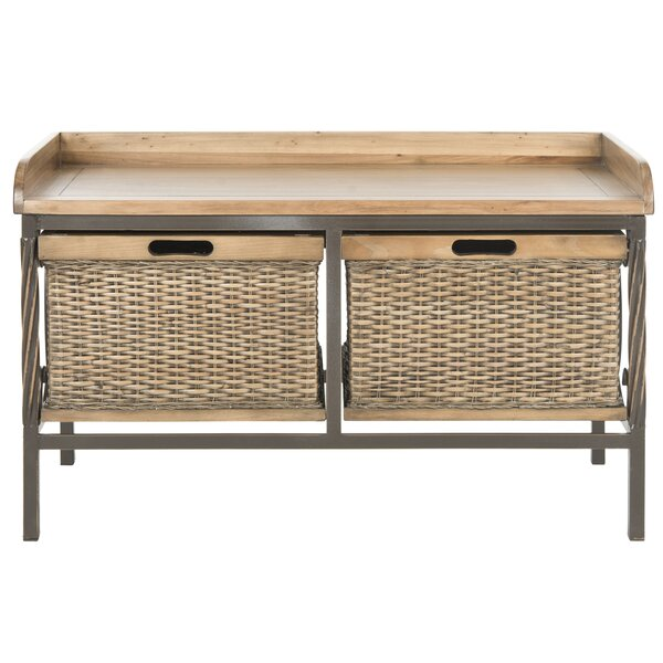 Bergen Wooden Storage Bench by Safavieh