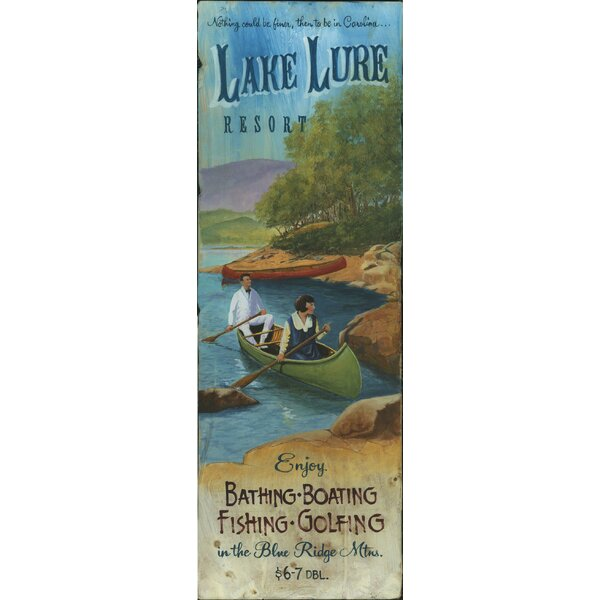 Lake Lure Vintage Advertisement Plaque by Red Horse Arts