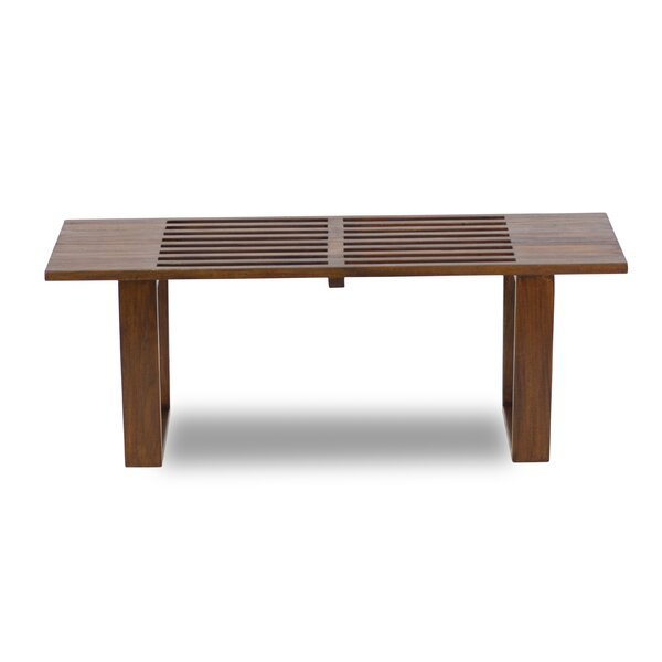 Nussbaum Solid Wood Bench by George Oliver