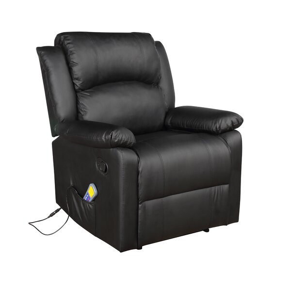 Emele Faux Leather Power Rocker Recliner with Massage W003424463