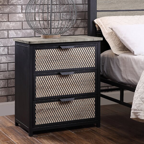 Robert 3 Drawer Nightstand by Gracie Oaks