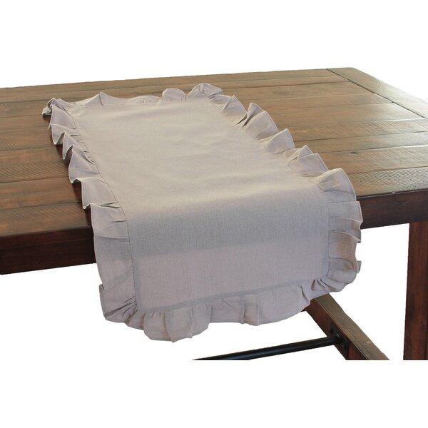 Ruffle Trim Table Runner by Xia Home Fashions