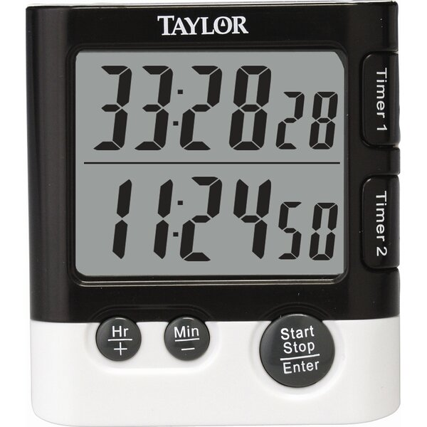 Classic Dual Event Digital Timer and Clock by Taylor