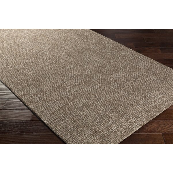 Darlington Hand-Tufted Brown Area Rug by Charlton Home