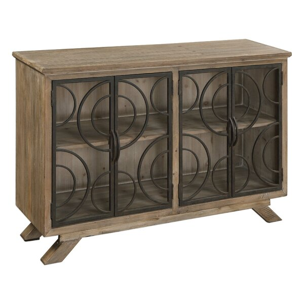 Precious Rustic 4 Door Accent Cabinet by Bungalow Rose