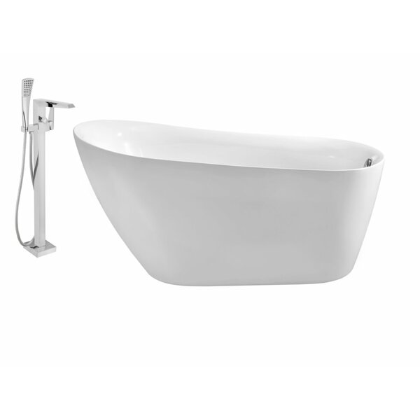 67 x 31 Freestanding Soaking Bathtub by Wildon Home ®