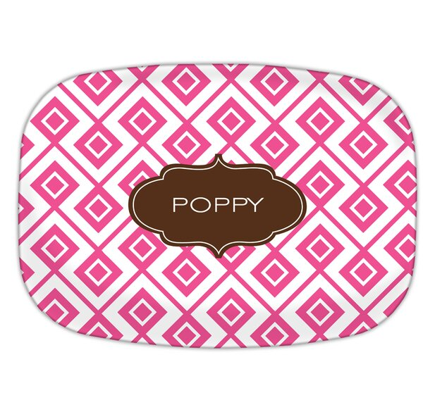 Lucy Block Personalized Melamine Plate by Dabney Lee