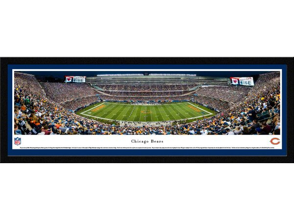 NFL Chicago Bears 50 Yard Night Framed Photographic Print by Blakeway Worldwide Panoramas, Inc