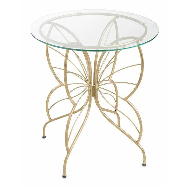 Glass/Metal Butterfly Bistro Table by Wind & Weather