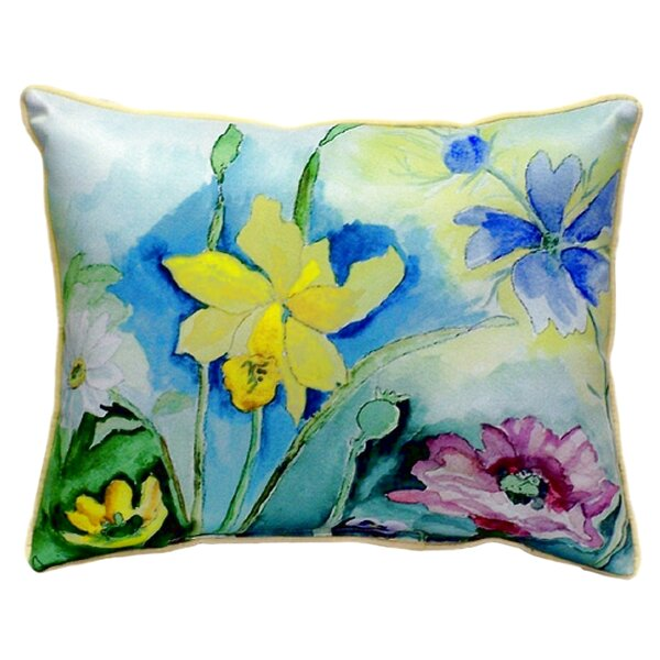 Florals Indoor/Outdoor Lumbar Pillow