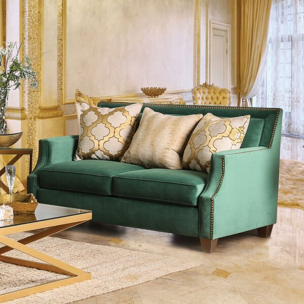 Cool Trendy Ramage Transitional Loveseat by Mercer41 by Mercer41