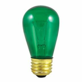 11W Transparent Green String Replacement Light Bulb (Set of 28) by Bulbrite Industries