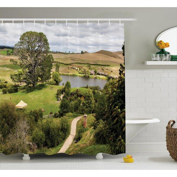 Hobbits Overhill Matamata New Zealand Movie Set Hobbit Land Village Movie Set Image Shower Curtain by Ambesonne