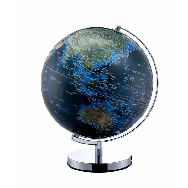 True Outward City Lights Frame Globe by Latitude Run