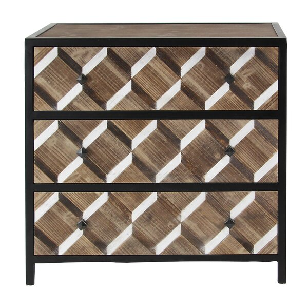 Wilke Contemporary Rectangular 3 Drawer Accent Chest by Brayden Studio