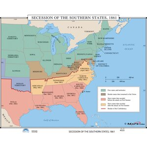 Wall Maps Youll Love Wayfair - Map of us southern states