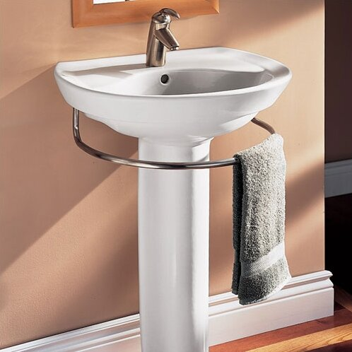 Ravenna Vitreous China 25 Pedestal Bathroom Sink with Overflow by American Standard